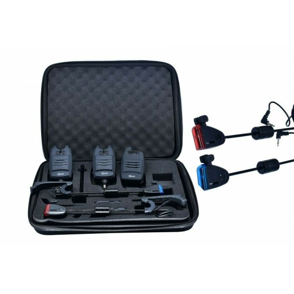 CarpOn® Bissanzeiger Funk Set +2 Swinger Set 1:1 Transportkoffer 180 m